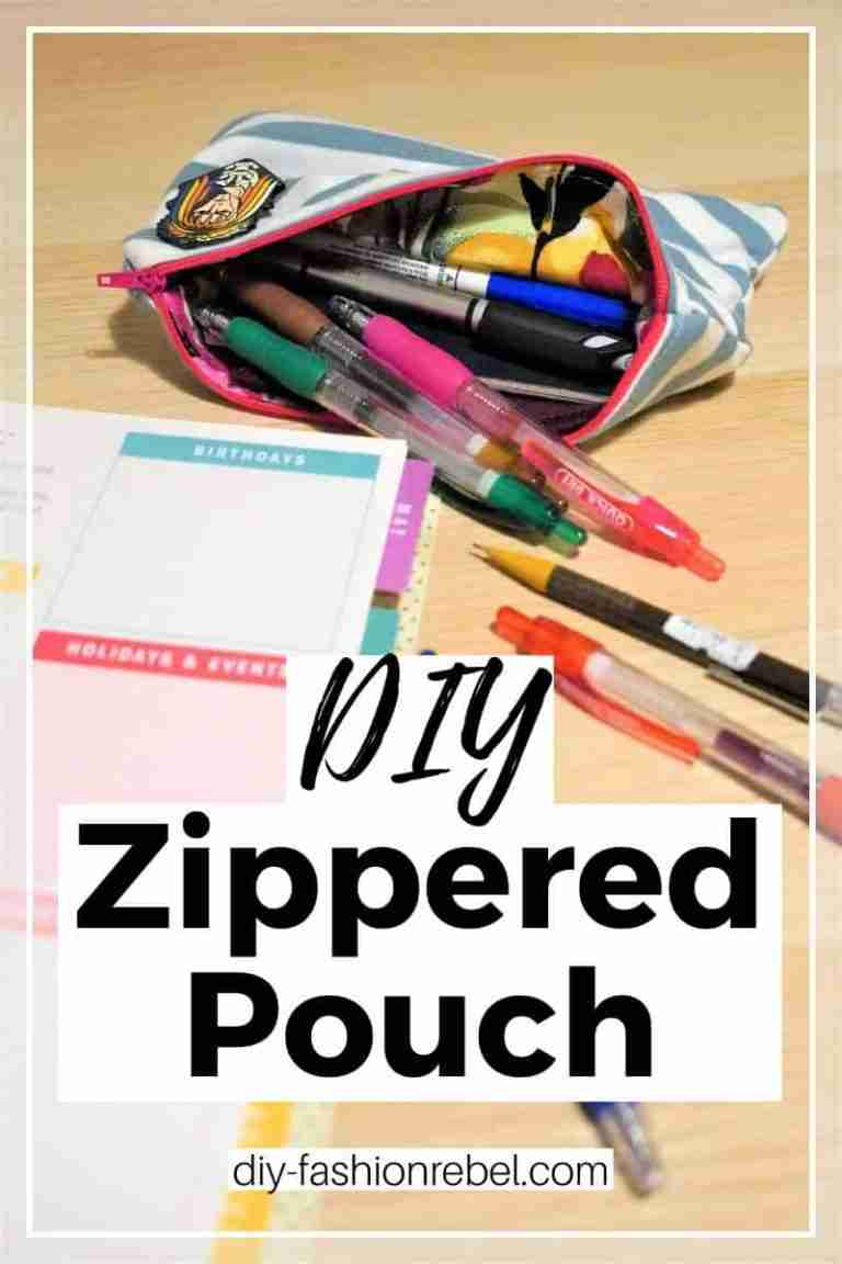 DIY Zippered Pouch