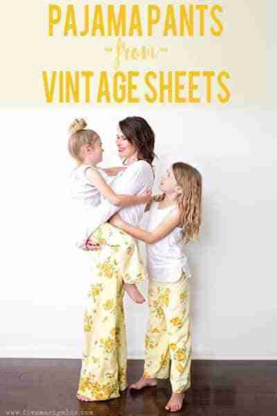 FREE Pajama Pant Pattern For Beginners From Vintage Sheet