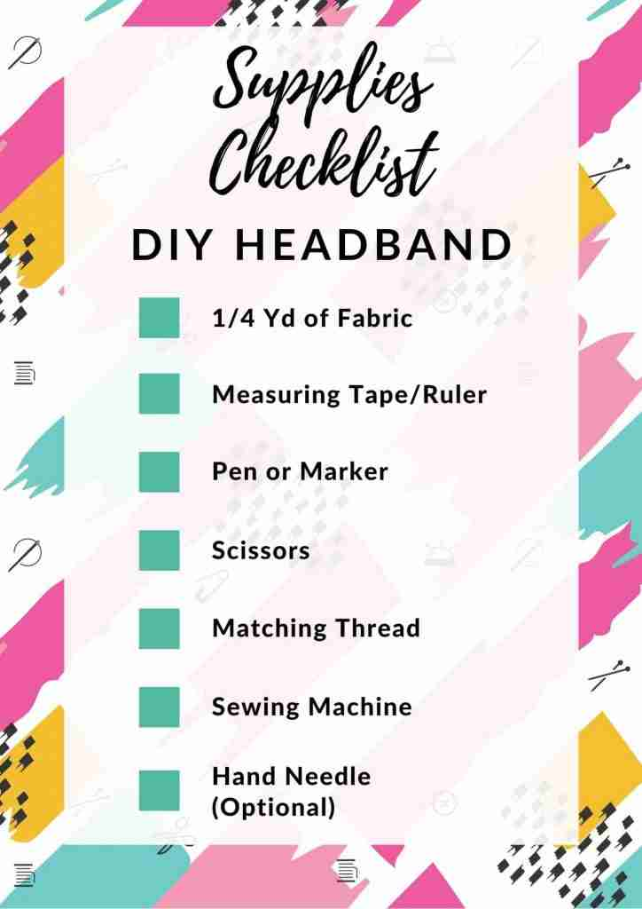 Supplies List for Making a DIY Headband