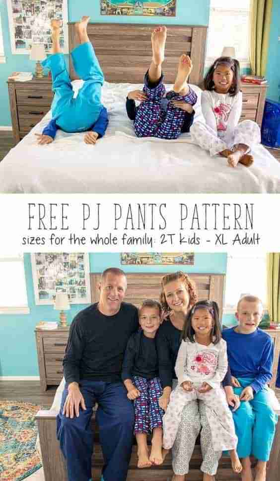 Free Pajama Pant Pattern For the Whole Family