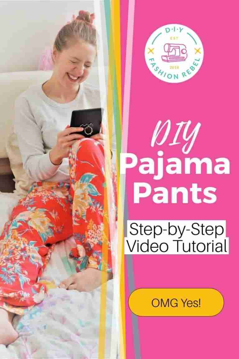 Sewing DIY Pajama Pants