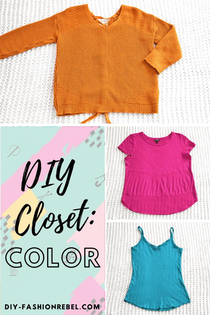 Primary Colors in my DIY Closet