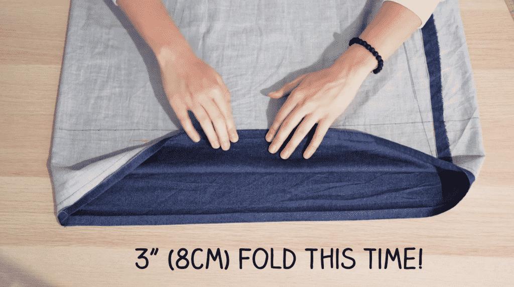 "Fold Top Edge Down 3"" (DIY Tank Top Project)"