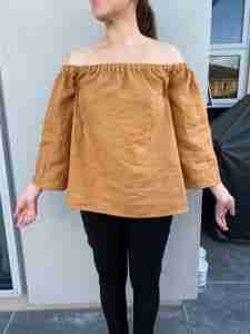 Off the Shoulder Top - Beginner Friendly Sewing Project