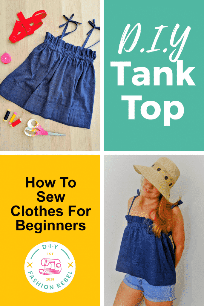 How To Sew Clothes for Beginners - DIY Tank Top