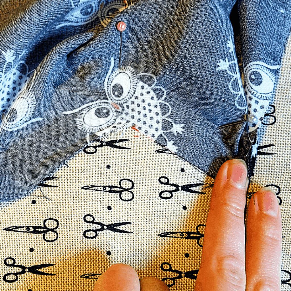 How to Double Fold a Kimono Neckline - Start at the Corner