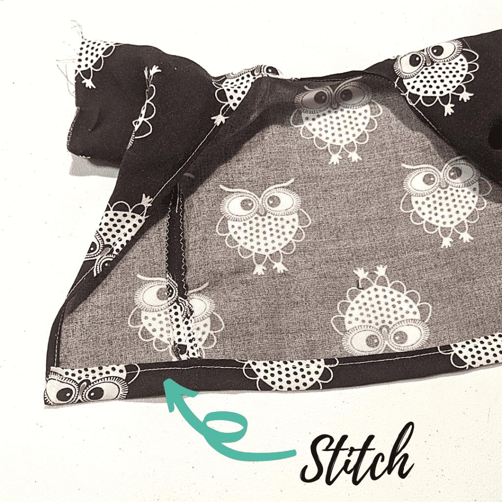 Sew the Bottom Hem of the Kimono Robe