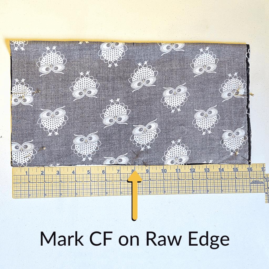 Mark Center Front on Kimono Robe