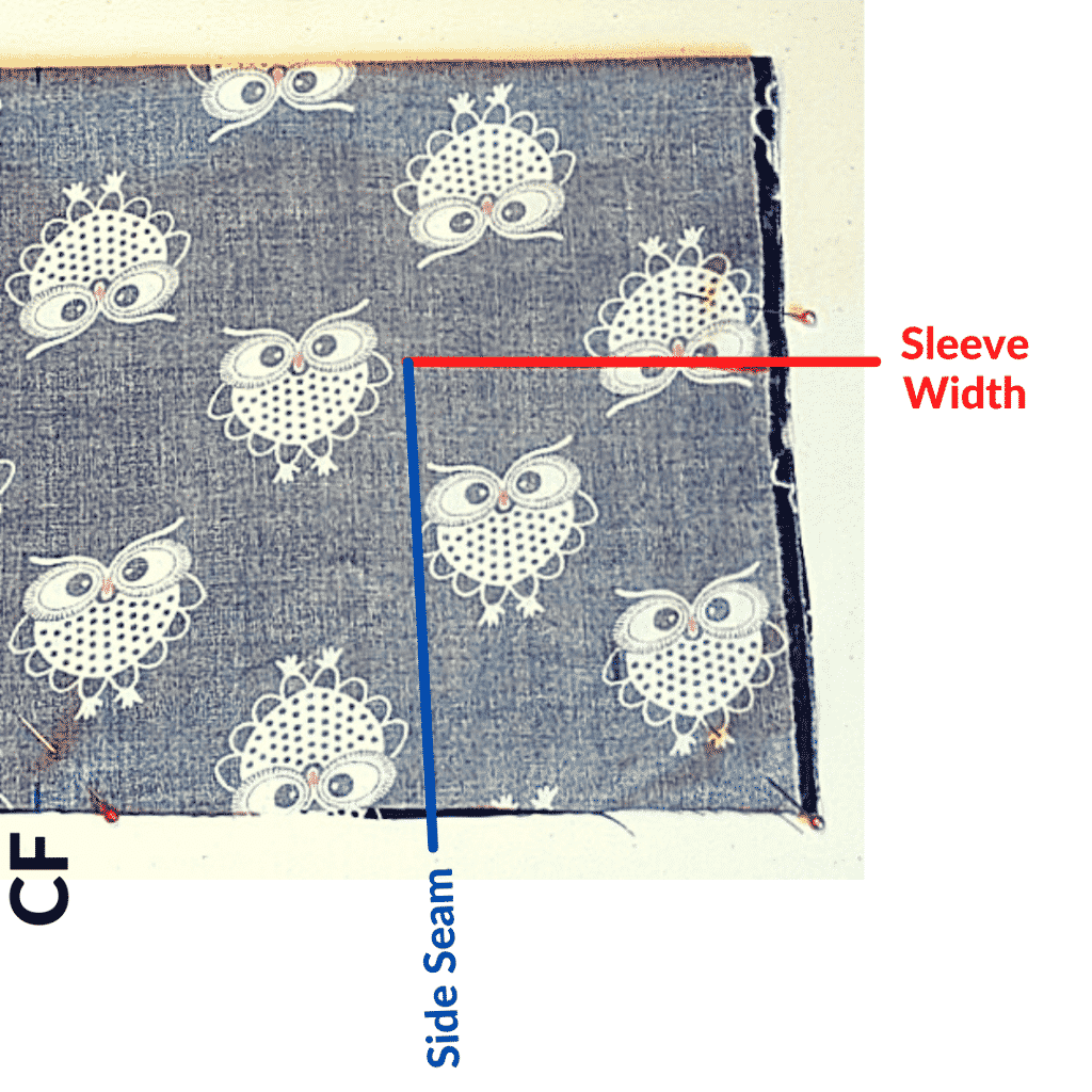 Draw Two Lines to Connect the Kimono Robe Side Seam to the Sleeve